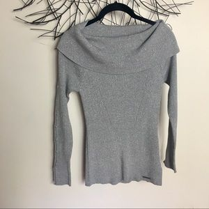 New MICHAEL KORS sparkle sweater. Gray. Medium